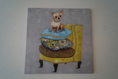 Bild Hund auf Sessel (90x90 cm) - Art.-Nr. 2
