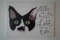 Bild Katze (100x140 cm) - Art.-Nr. 3