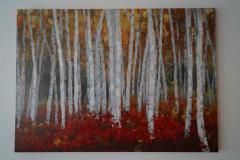 Bild Wald Rot (100x140 cm) - Art.-Nr. 11
