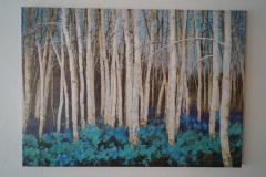 Bild Wald Blau (100x140 cm) - Art.-Nr. 12