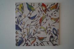 Bild Bunte Vögel (100x100 cm) - Art.-Nr. 14
