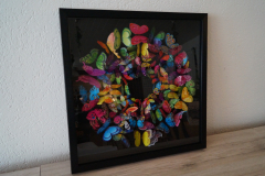 Bild 3D Schmetterlinge Schwarz (60x60 cm) - Art.-Nr. 15