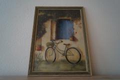 Bild Fahrrad mit Rahmen (57x78 cm inklusive Rahmen) - Art.-Nr. 16