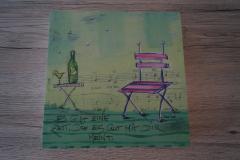 Bild Stuhl mit Flasche (20x20 cm) - Art.-Nr. 21