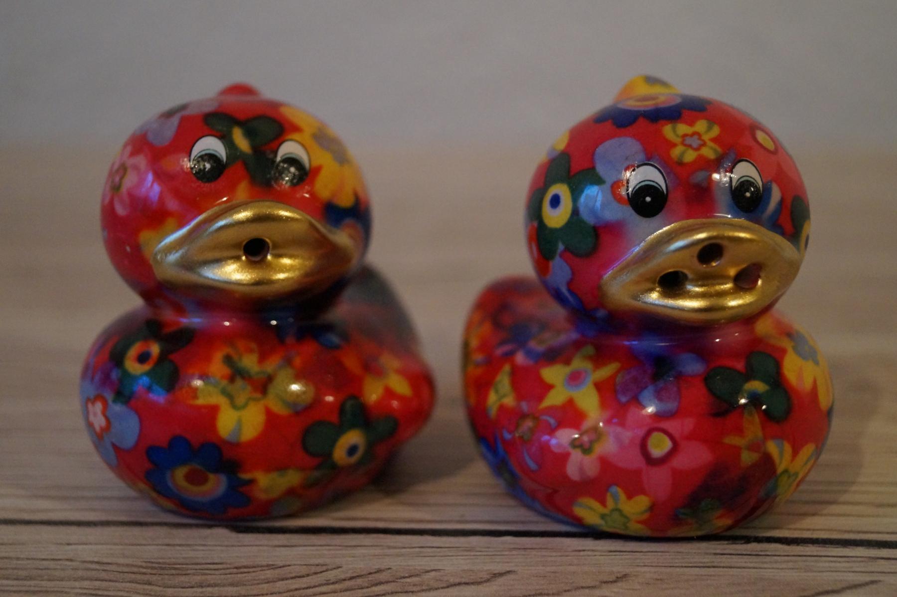 Salz und Pfefferstreuer Ente (jeweils 6x6 cm) - Art.-Nr. 89